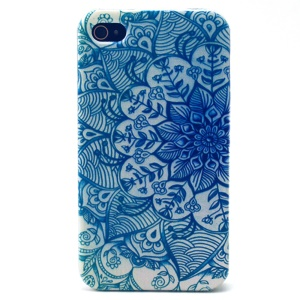 Blue Flowers TPU Gel Case for iPhone 4s 4