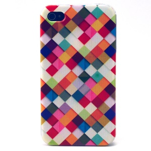 Colorful Checks TPU Case Shell for iPhone 4s 4