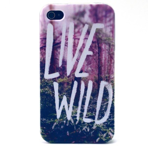 Live Wild Pattern TPU Case Shell for iPhone 4s 4