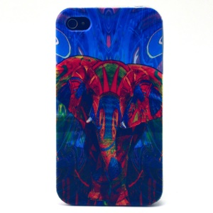 Red Elephant TPU Cover Case for iPhone 4s 4