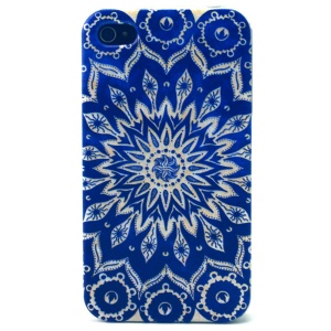 Mandala Flowers TPU Cover Case for iPhone 4s 4