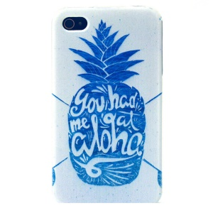 Blue Pineapple TPU Shell Case Cover for iPhone 4s 4