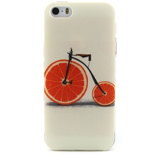 Creative Orange Bicycle TPU Protective Case for iPhone 5 5s