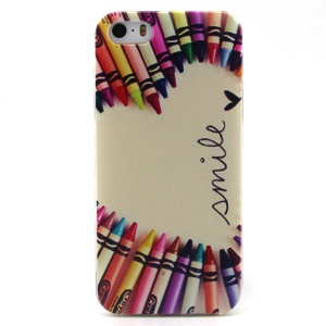 Circled Heart Pattern TPU Shell for iPhone 5 5s