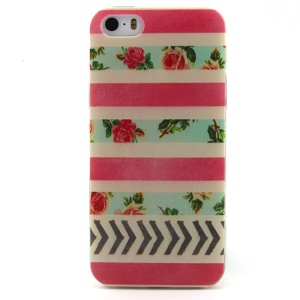 Roses Pattern TPU Protective Case for iPhone 5 5s