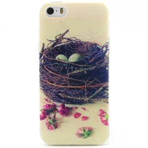 Bird Nest Pattern TPU Protective Case for iPhone 5 5s