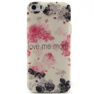 Beautiful Dual-color Roses TPU Protective Case for iPhone 5 5s