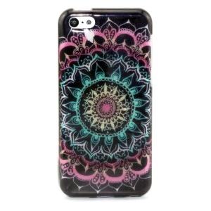 Glitter Powder IMD TPU Protective Case for iPhone 5c - Mandala Flowers