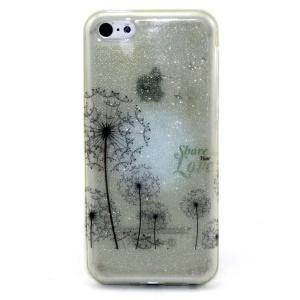 Glitter Powder IMD TPU Cover for iPhone 5c - Flying Dandelion