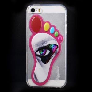 3D Footprint Shape TPU Gel Shell for iPhone 5 5s - Beautiful Eye