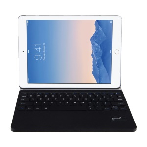 SEENDA Stripe Pattern Detachable 2 in 1 Bluetooth Keyboard Leather Case for iPad Air 2 - Black