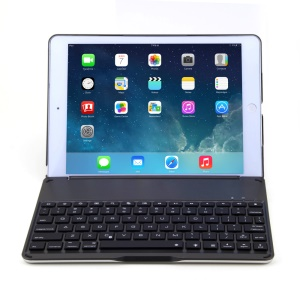 WITSPAD F8 for iPad Air Aluminum Bluetooth Keyboard Protective Stand Case - Black
