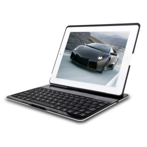 WITSPAD F4 Bluetooth Keyboard Smart Stand Shell for iPad 2 3 4 - Black