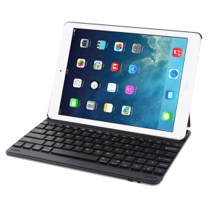 Flip Leather Cover Bluetooth Keyboard w/ Stand for iPad Air - Black