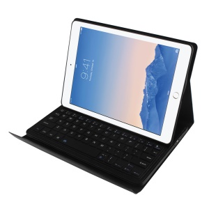 For iPad Air 2 Removable Bluetooth Keyboard + Leather Case w/ Stand - Black