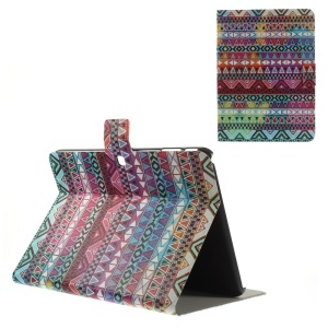 Perfume Leather Stand Case for Samsung Galaxy Tab 4 10.1 T530 T531 T535 - Tribal Triangles
