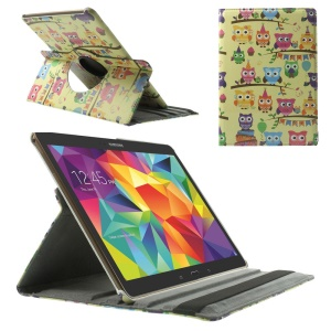 For Samsung Galaxy Tab S 10.5 T800 T805 360 Degree Rotary Smart Leather Case - Owls Carnival