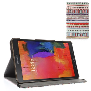 Leather Stand Cover w/ Elastic Band for Samsung Galaxy Tab S 8.4 T700 T705 - Tribal Style Pattern
