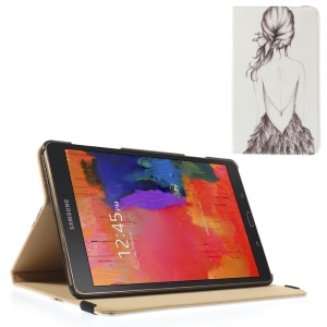 Leather Flip Cover w/ Elastic Band for Samsung Galaxy Tab S 8.4 T700 T705 - Slim Back of Beauty