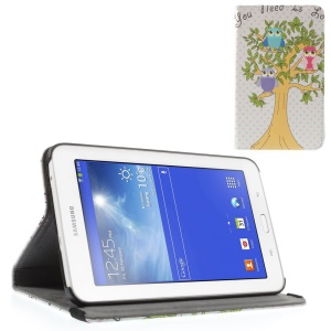 Owls on Tree Leather Stand Case for Samsung Galaxy Tab 3 7.0 Lite T110 T111