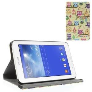 Multiple Colorful Owls Leather Stand Cover for Samsung Galaxy Tab 3 7.0 Lite T110 T111