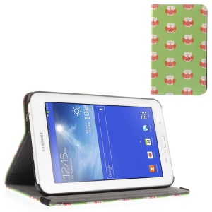 Sleeping Red Owls Leather Stand Shell for Samsung Galaxy Tab 3 7.0 Lite T110 T111