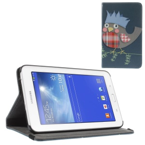 Cartoon Bird Leather Stand Cover Shell for Samsung Galaxy Tab 3 7.0 Lite T110 T111