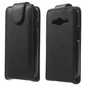 For Samsung Galaxy Ace NXT SM-G313H Vertical Flip Leather Magnetic Case - Black