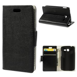 PU Leather Folio Stand Wallet Case for Samsung Galaxy Pocket 2 G110 - Black