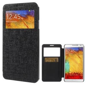 Black MERCURY Goospery Viva Window Leather Case for Samsung Galaxy Note 3 N9005 N9002 N9000