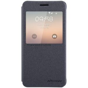 NILLKIN Sparkle Series View Window Leather Flip Case for Samsung Galaxy Alpha G850F G850A - Black
