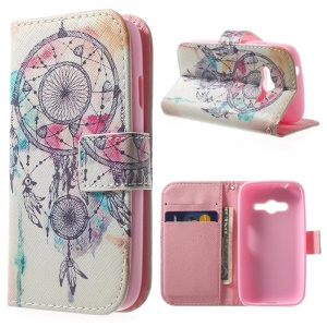 Magnetic Wallet PU Leather Stand Case for Samsung Galaxy Ace NXT G313H - Dream Catcher