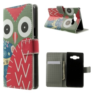 Owl and Deer Flip Leather Wallet Case for Samsung Galaxy A5 SM-A500F
