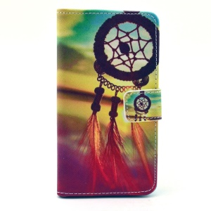 For Samsung Galaxy Alpha G850F G850A Color Drawing Leather Wallet Stand Case Cover - Dream Catcher