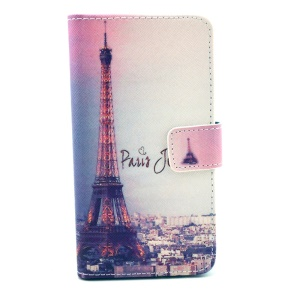 For Samsung Galaxy Alpha G850F G850A Color Drawing Leather Wallet Stand Case Cover - Eiffel Tower & Quote