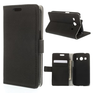 Black for Samsung Galaxy Ace Style LTE G357FZ Gravel Grain Leather Magnetic Case w/ Stand