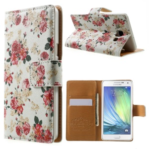Pretty Roses Leather Wallet Case for Samsung Galaxy A5 SM-A500F w/ Stand