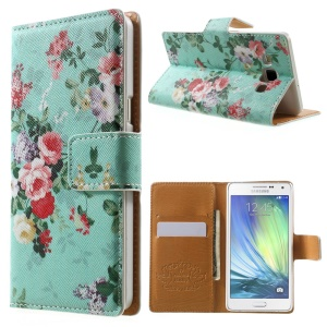 Beautiful Flowers Flip Leather Wallet Cover for Samsung Galaxy A5 SM-A500F