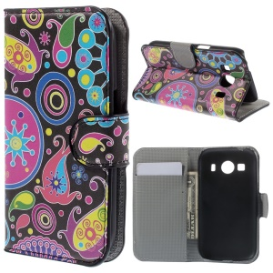 Paisley Pattern Wallet Leather Case Stand for Samsung Galaxy Ace Style LTE G357FZ / Ace 4 G357FZ