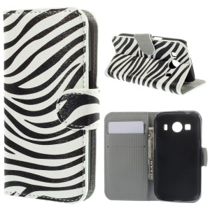 Zebra Pattern Wallet Leather Cover Bracket for Samsung Galaxy Ace Style LTE G357FZ / Ace 4 G357FZ
