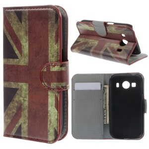 For Samsung Galaxy Ace Style LTE G357FZ / Ace 4 G357FZ Retro UK Flag Stand Leather Wallet Case