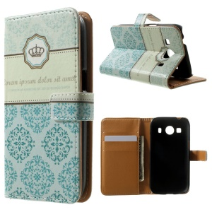 Wallet Leather Cover for Samsung Galaxy Ace 4 SM-G357FZ / Ace Style LTE G357FZ - Retro Flower