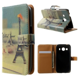 Wallet Leather Cover for Samsung Galaxy Ace 4 SM-G357FZ / Ace Style LTE G357FZ - Eiffel Tower