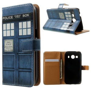 Wallet Leather Case for Samsung Galaxy Ace 4 SM-G357FZ / Ace Style LTE G357FZ - Telephone Booth