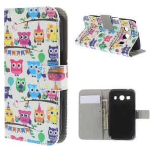 Multiple Owls for Samsung Galaxy Ace Style LTE G357FZ / Ace 4 G357FZ Leather Wallet Stand Case