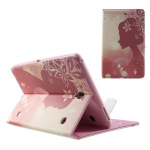 Smart Leather Shell for Samsung Galaxy Tab S 8.4 T700 T705 - Rhinestone Bauhinia Flower Girl