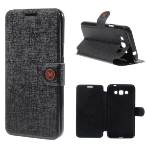 MLT Leather Folio Cover for Samsung Galaxy Grand 3 G7200 with M Magnetic Flap - Black