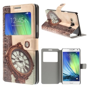 Fifth Avenue Window View Leather Cover for Samsung Galaxy A7 SM-A700F with Stand