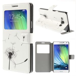Dandelion Pattern Window View Leather Folio Case for Samsung Galaxy A7 SM-A700F