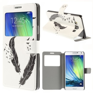 Flying Eagle Window View Leather Stand Cover for Samsung Galaxy A7 SM-A700F